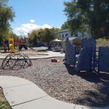 school age playground other side